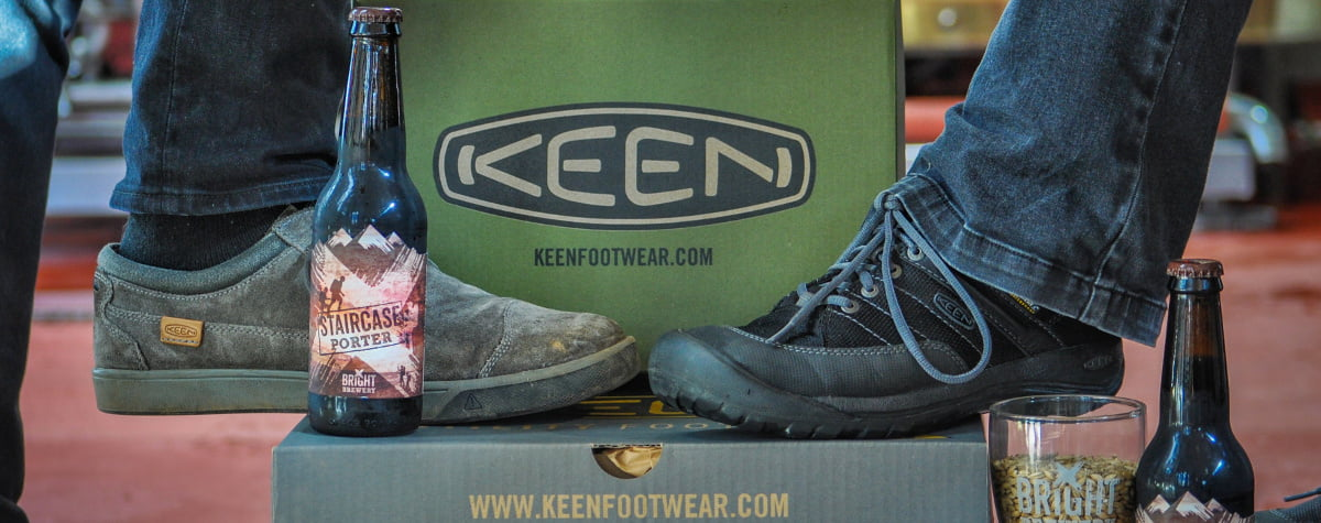 KEEN footwear at Bright Brewery